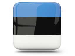 estonia glossy square icon 256
