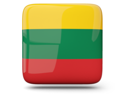 lithuania glossy square icon 256